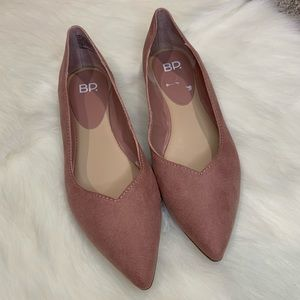 B.P Flats Pink Size 6.5 Faux Suede